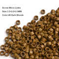 3.5*2.0*2.0MM 1000pcs small size microring links beads with screw for i tip hair extensions tools 7 Colors available
