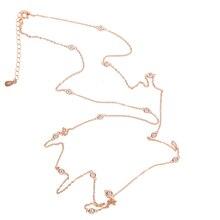 Cadena larga de Invierno para mujer, joyería de plata de ley 100% de alta calidad, suéter con cadena larga cz de 85cm y 925 cm