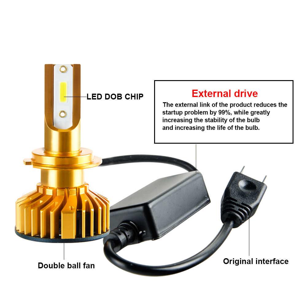 H4 LED H7 Car Headlight Super bright Dob Chip 10000LM 72W 6500K Auto LED H4 Hi Lo Beam H1 H11 H8 H9 9005 9006 9012 CANBUS 12V