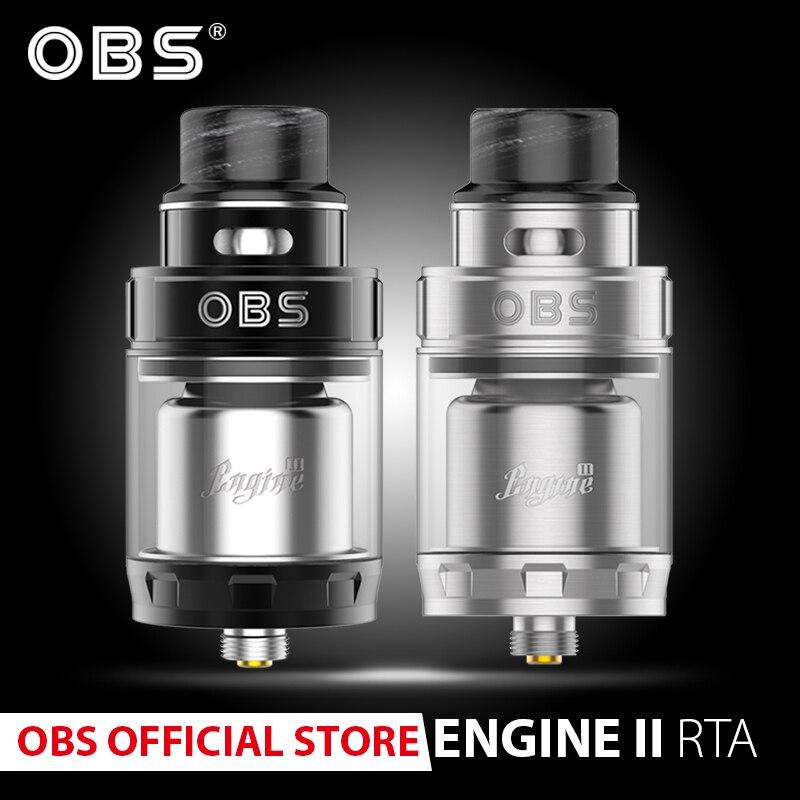 Original OBS Engine 2 RTA 5ml Tank Atomizer With Super Dual Coil RTA And Top Airflow Adjustable E-cig Vape Atomizer