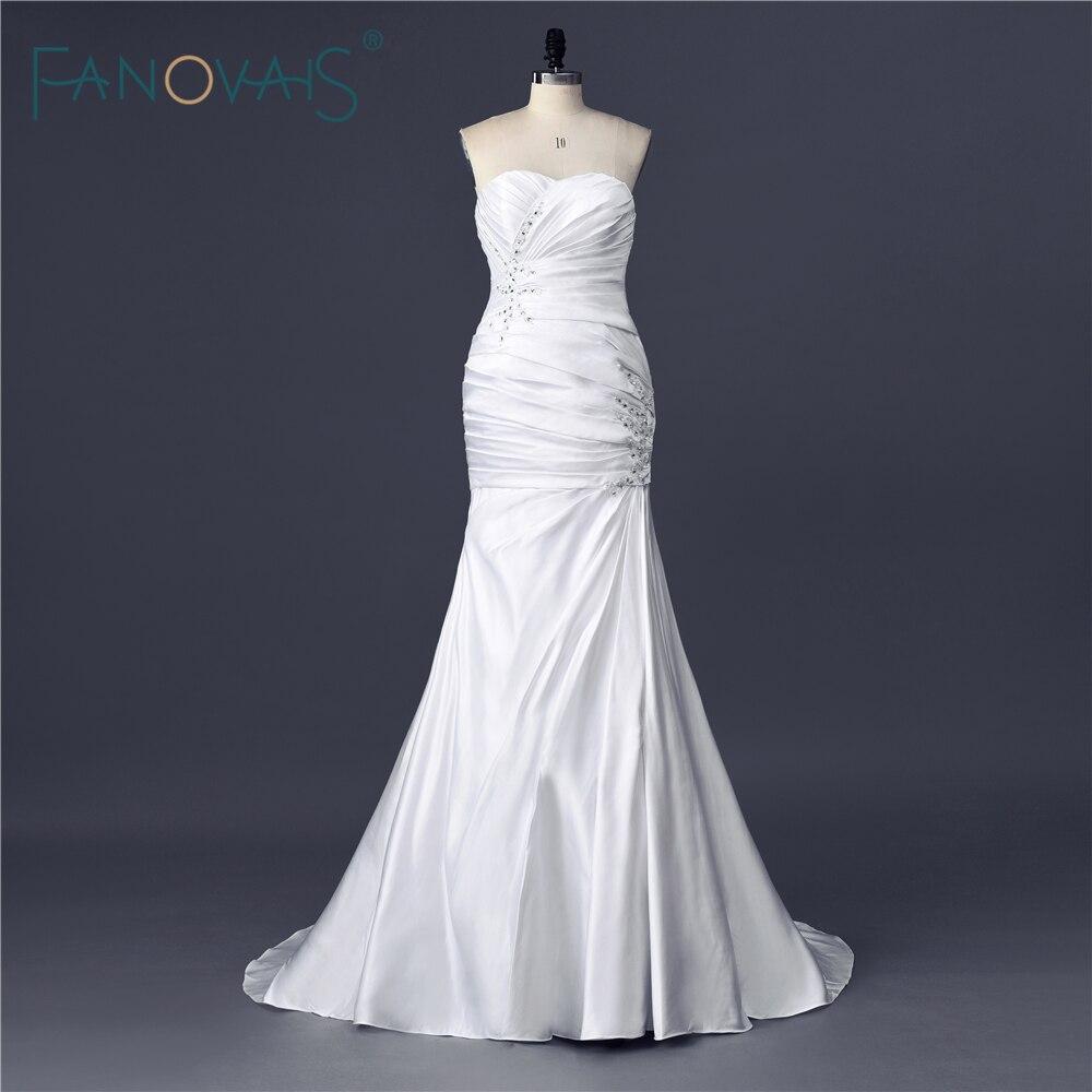 Gorgeous vintage crystal real sample ruffled sweetheart for True mermaid wedding dresses