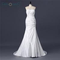 Gorgeous Vintage Crystal Real Sample Ruffled Sweetheart Satin Wedding Gowns Mermaid for Bridal abiti da sposa sirena ASAW21