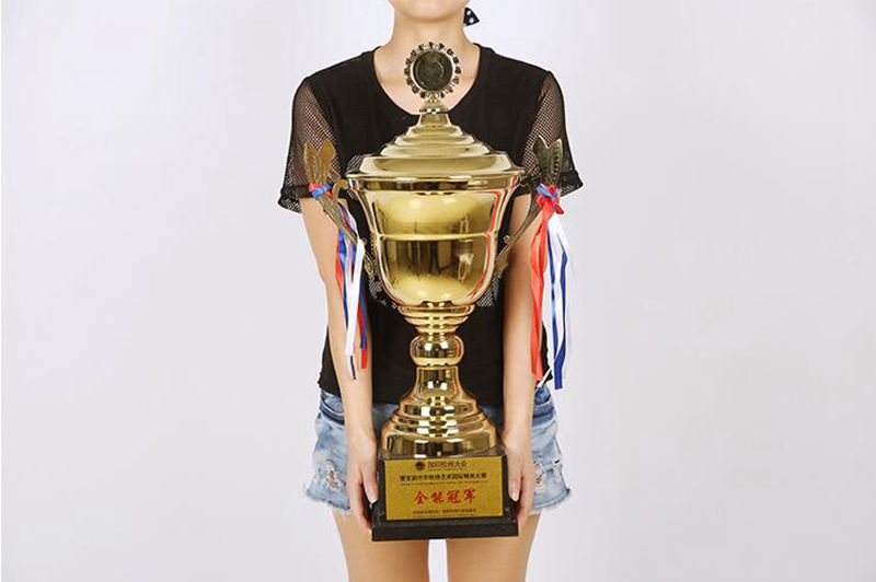 Hot Sale!New 58.5cm Metal Trophy Football Basketball Badminton Championship Trophy,Free Shipping