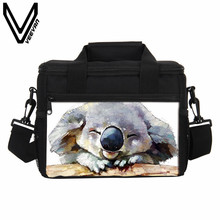 VEEVANV New Cute Koala Lunch Bags Women Portable Insulated Cooler Bags Thermal Lunch Box Storage Container Girls Food Picnic Bag