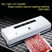 100 В 240 В вакуум запайки для бытовой сухой/влажной Еда Электрический запайки с 20 штук вакуум сумки