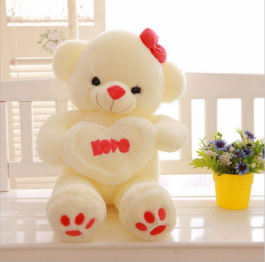 140cm Doll High Quality Super Kawaii Cute Lovely Teddy Bear Plush Toys Stuffed Dolls Wedding Decoration Baby Toy Gift 55inch 2pcs pair lovely couple teddy bear with cloth dress plush toy stuffed baby doll girls