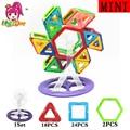 52 pcs Mini Céu roda Kit Moinho De Vento Magnético Brinquedo Magnético Educacional Blocos de Construção de Plástico 3D Modelos de Tijolos Brinquedos Para As Crianças