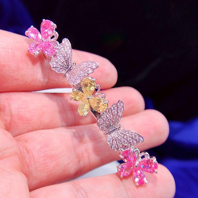 ASNORA Zircon color mariposa horquilla accesorios para el cabello adultos cabeza joyeriaASNORA Zircon color mariposa horquilla accesorios para el cabello adultos cabeza joyeria