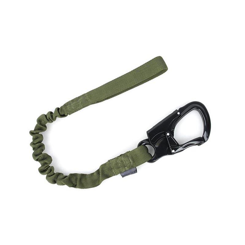 Outdoor  Safety Personal Retention Lanyard Tactical Metal D Type Buckle Hook