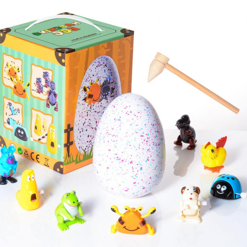 Children Middle Size Dinosaur Egg Mini Animals Toy Plastic Educational Novelty Gag Toys For Child Kids Boys Girls Gift mb007