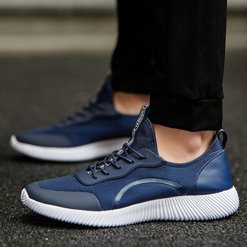 2018 Mâle bleu Lace Appartements Chaussures Lumière D'été Pour Garçon gris Mode Grande 47 Occasionnels Respirant Taille Noir Up Hommes 35 wxUSXzpq6