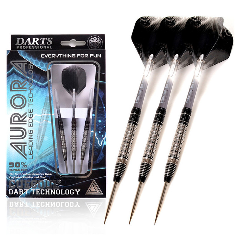 CUESOUL 3pcs/set 23g 145mm Tungsten Steel Tip Darts With 90%Tungsten Steel Barrel And Translucent Dart Shafts And Flights cuesoul 24 26 28g professional 85% tungsten steel tip darts 145mm with nylon shafts csgl n2209