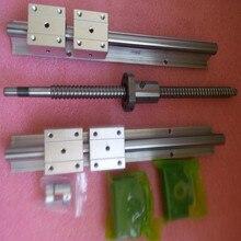 Linéaire rails 2 pcs SBR16-L1200 mm + Vis À Billes 1 pcs SFU1605-L1250 mm + 1BKBF12 + 1 ballnut logement + 1 oupling 8-10