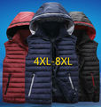 New 2017 Autumn Winter Extra Large Waistcoat Men Hooded Vest Cotton Down Jacket Sleeveless Coat Plus Size xxxxl 5xl 6xl 7xl 8xl