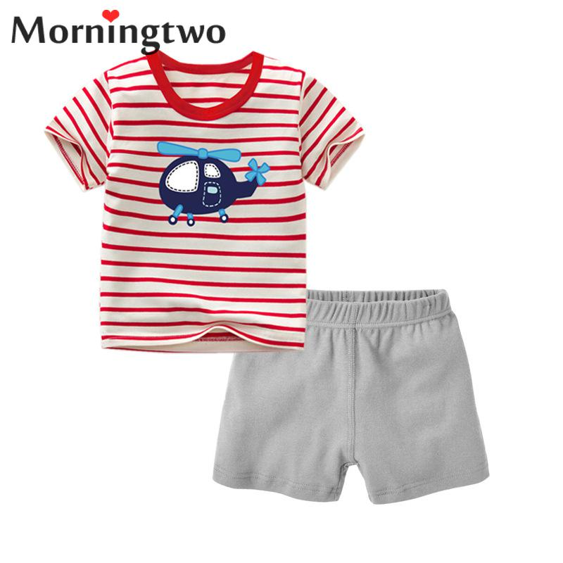 Baby Boy Clothes Set Summer 2018 Newly 2pcs Childen's Clothing Suit With Short Sleeve Shirt+pants Cotton Casual Baby Clothes Set free shipping 2016 summer new arrive letter fashion children boy clothing set 100% cotton short sleeve casual clothes set