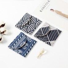 Fouetaw sac de rangement pour serviette hygiénique 1 pièce découteurs à motifs japonais créatifs, ligne de données, bureau et maison 1 pièce