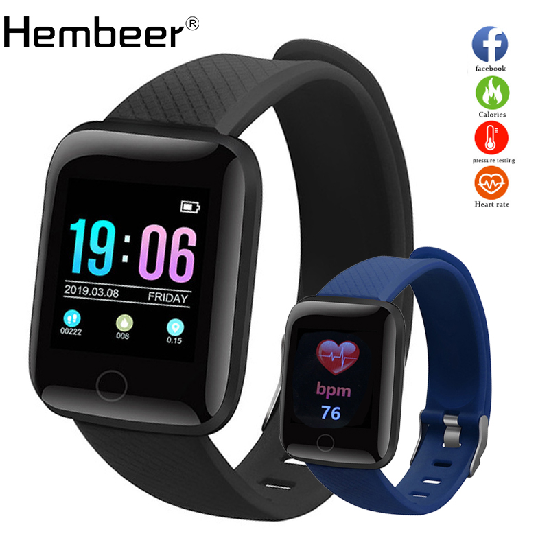 Hembeer D13 Smart Watch Men Women For Android Apple Phone Waterproof Heart Rate Tracker Blood Pressure Oxygen Sport Smartwatch(China)