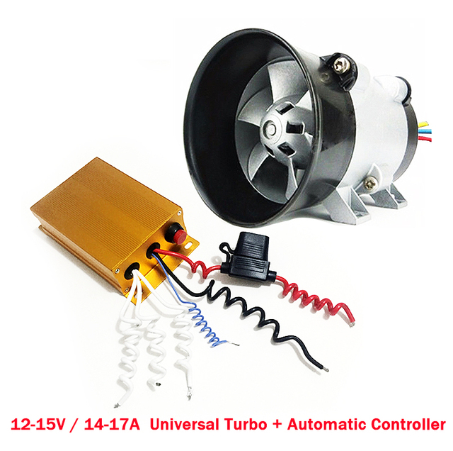 Universal Car Electric Turbine Carregador Turbo With Automatic Controller 35000 Rpm Charger Maximum 300w
