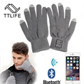 TTLIFE Free Shipping Bluetooth Gloves Touch Screen Mobile Headset Speaker For Phone
