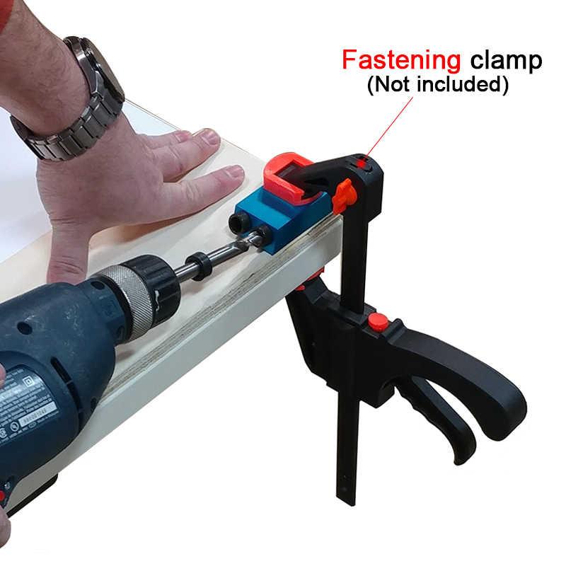 Kit de gabarit de trou de poche adaptateur d'entraînement 6/8/10mm pour le travail du bois