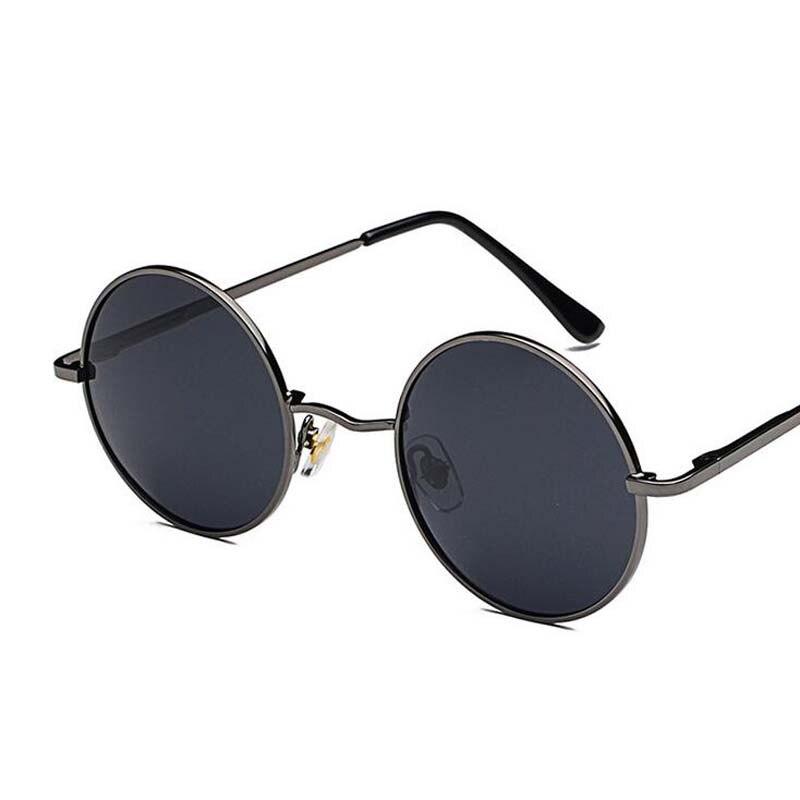 d3fde8529e Retro gafas de las mujeres de los hombres gafas de sol redondas de ...