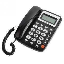 Wired Desk Corded Telephone FSK/DTMF Caller ID 24 Ringtone Landline Telephone LCD Screen Calendar Time Office Hotel Telefone