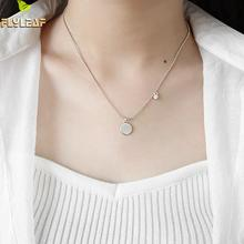 Flyleaf 925 Sterling Silver Zircon Circle Letter Necklaces & Pendants For Women Fashion Student Girl Jewelry new 925 sterling silver zircon square circle necklaces pendant fashion sterling silver jewelry statement for women bijoux