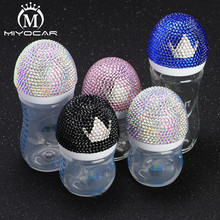 MIYOCAR Bling beautiful handmade safe Feeding Bottle baby bottle and bling crown pacifier for gift