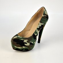 Camouflage Paint Women's Stiletto Heel Platform Shoes Women Shoes zapatos mujer 2015 Cover Ladies High Thin Heels Pumps