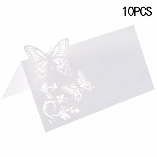 10pcs Vertical Laser Cut Butterfly Invitations Cards Kits for