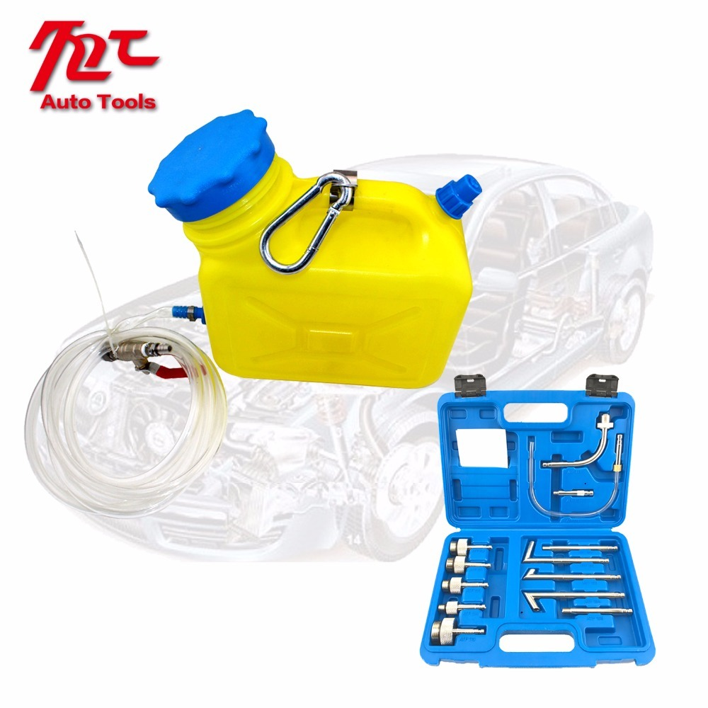 Купить с кэшбэком Auto CVT/DSG Transmission Oil Refilling Refill Tool Kit 09G 13Pcs Oil Filling Adaptor