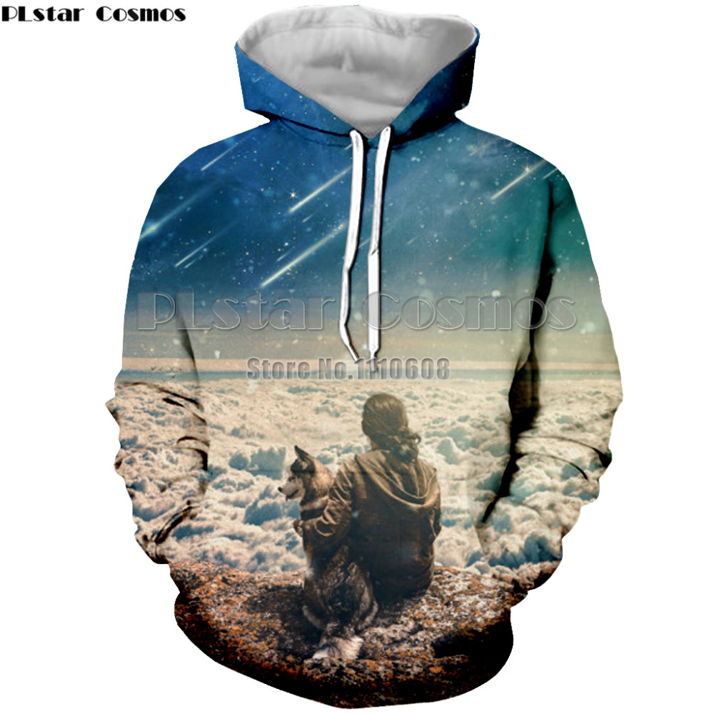 Hoodies & Sweatshirts Sensible Plstar Cosmos Meteor Sky Hoody Men/ms 3d Sweatshirt Print Man & Dog Hoodie Unisex Hoodie Sports Set Tops