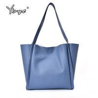 YBYT Brand 2018 New Casual Large Capacity Lychee Pattern Solid Women Composite Bag Ladies Shopping Handbags