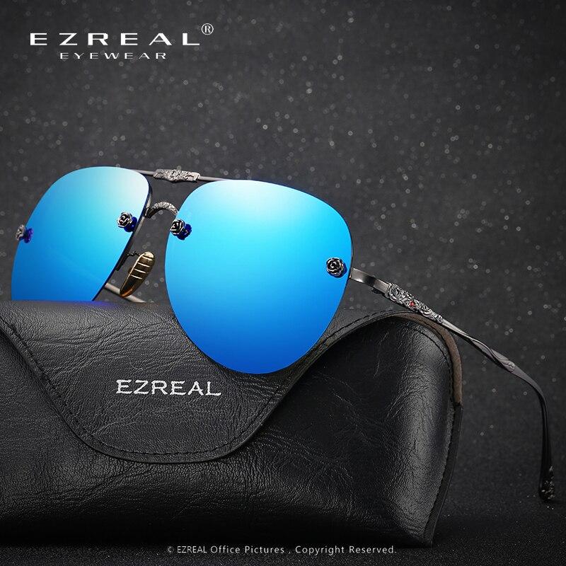 2017 Nová značka módní polarizované sluneční brýle Frog Mirror Sluneční brýle Muži Sunglass Women Brand Designer, EZREAL Driving Brýle