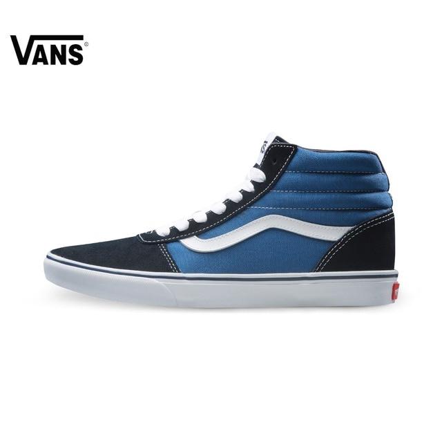 c57133e5d977 Original Vans New Arrival Black and Blue Color High-Top Men s Sneakers For  Men Skateboarding Shoes Sport Shoes