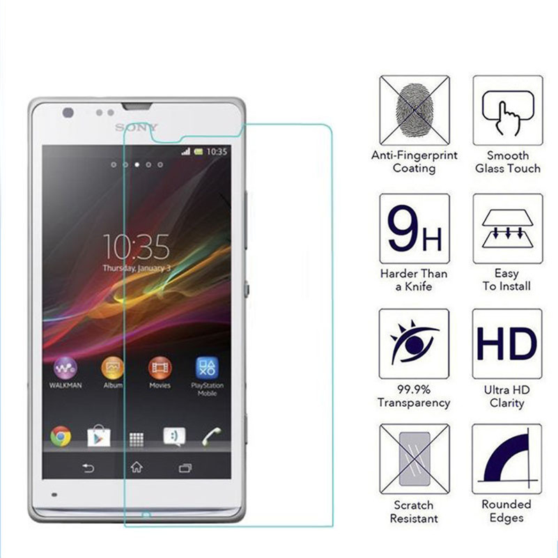 9H 2.5D 0.26mm Premium Tempered Glass Protector For Sony Xperia SP M35H C5302 C5303 C5306 Screen Toughened Protective Film Cover