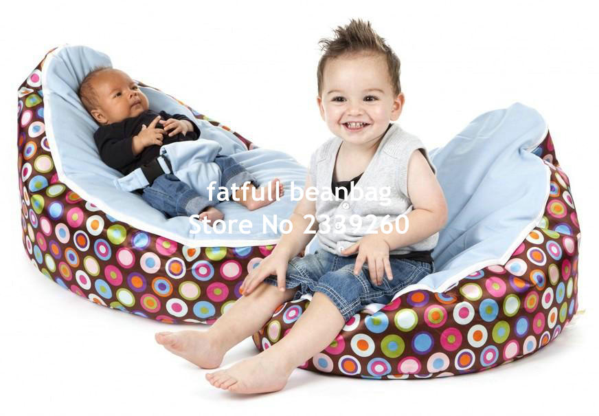 Cover Only No Fillings Hot Lovely Aqua Blue Balls Pattern Baby Bean Bag Infant Beanbag Stuffings With Zipper In Sofas From Furniture