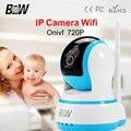 Câmera de CFTV IP Sem Fio Wi-fi P2P 720 P HD de Segurança Interior Web Cam Para Casa Sistema de Alarme de vigilância Mini Câmera Wi-fi Onvif BWIPC013B