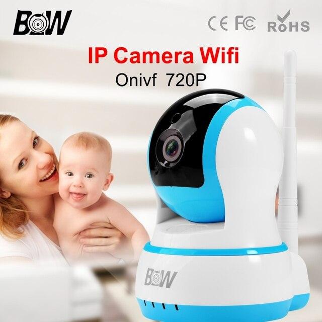 IP Камеры ВИДЕОНАБЛЮДЕНИЯ Беспроводные Wi-Fi P2P 720 P HD Крытый Безопасности наблюдения Мини Wi-Fi Камера Onvif Веб-Камера Системы Домашней Сигнализации BWIPC013B