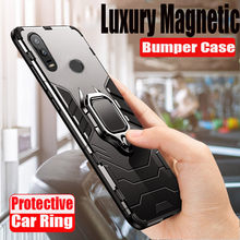 Luxury Shockproof Armor Magnetic Case For Huawei Honor 8X 8A 20 Pro 10 Lite Bumper Case For P20 Lite PSmart 2019 Ring Soft Cover(China)