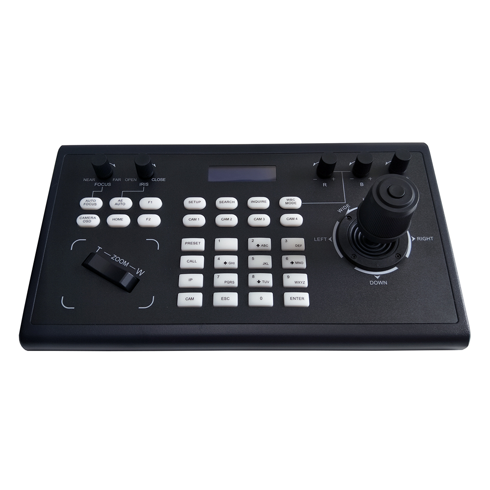 Image 2 - Video Conferencing Network Keyboard Controller joystick RS485/232 RJ45 Ports PelcoD VISCA for HDMI SDI IP Conference CameraCCTV Control System   -