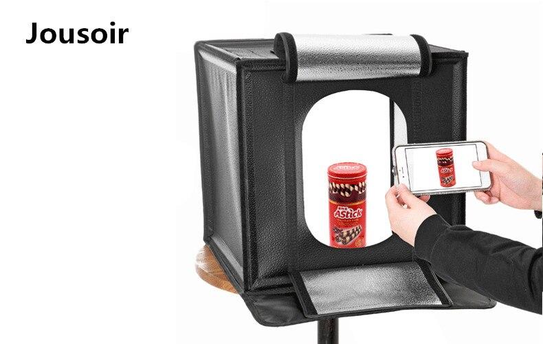 Фотостудия 60 см Amzdeal Портативный Фото Box свет палатка с светодио дный освещения складной профессиональной фотографии cd50