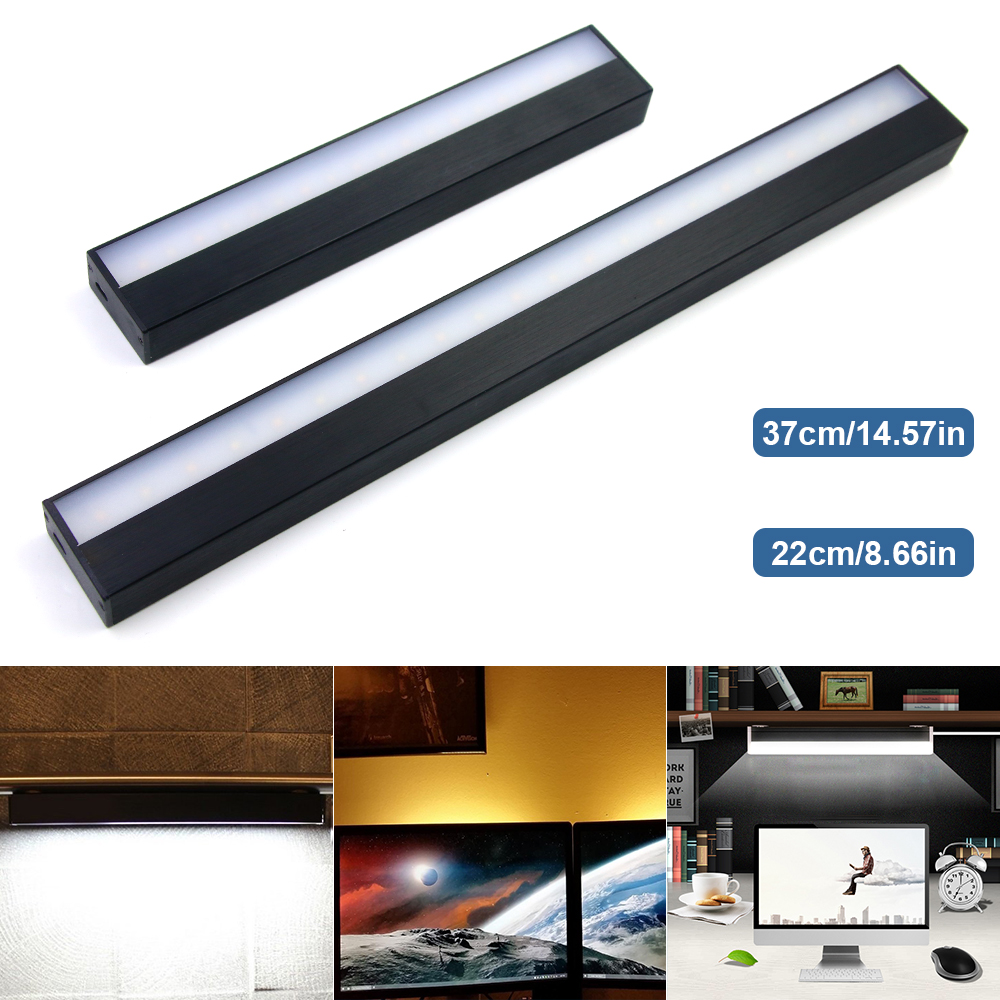 USB Charging Touch Switch Dimmable Night Light Mirror Lights Long Strips Aluminum Wall Lamp For Cabinet Bedside Bathroom Kitchen