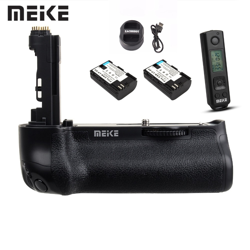 Meike MK-5D4 PRO Handy Vertical Battery <font><b>Grip</b></font> for Canon <font><b>5D</b></font> <font><b>Mark</b></font> <font><b>IV</b></font> Camera As BG-E20 With Wireless Control Remote Battery+Charger image