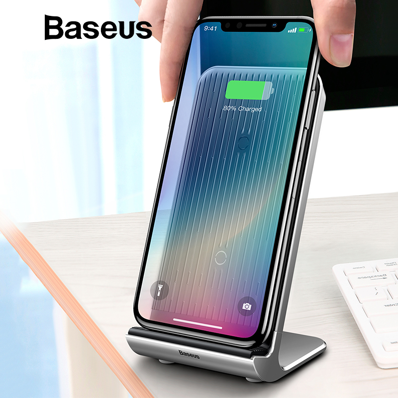 Baseus de refrigeración inteligente cargador inalámbrico de escritorio multifunción inalámbrico plataforma de carga para iPhone X/XS Max XR Samsung Nota 9 s9
