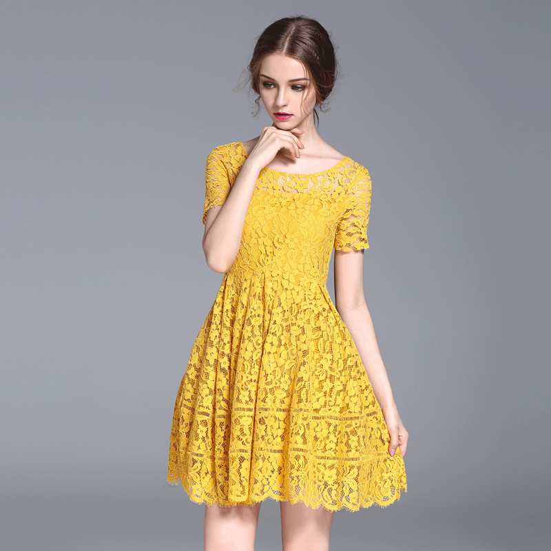 Yellow Floral Dresses for Women