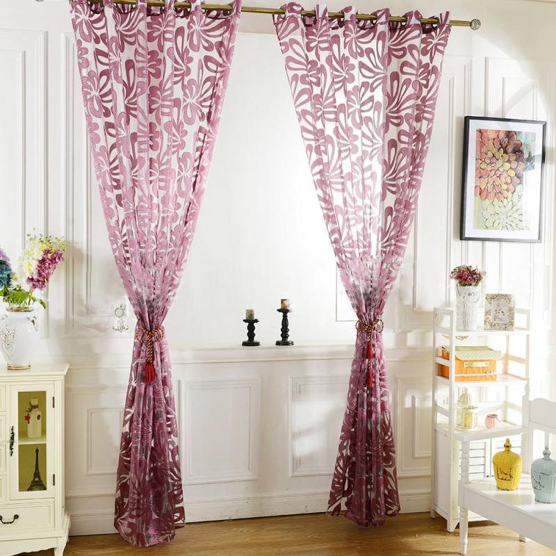 jacquard 3d flower pattern curtains for living room modern ready made curtain pjchina - Patterned Curtains