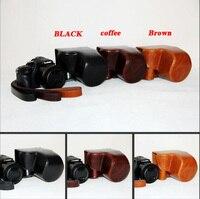Nova câmera de couro do plutônio caso saco para panasonic lumix DMC-FZ1000 fz1000 câmera saco capa com alça 3 cor