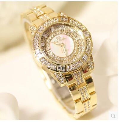 010798Luster Women Watches Quartz Geneva Rhinestone Luxury Roman Lady Relogio Times Simple Superior Quality Casual s