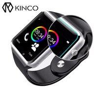 KINCO Bluetooth Akıllı Anti Kayıp Bulucu Tracker Adımsayar Uyku Monitör Sedanter Hatırlatma SIM Bilek Telefonu IOS Android için